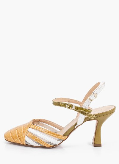 Women Sandals Low Pamy.Cage Multi Leather Carmens