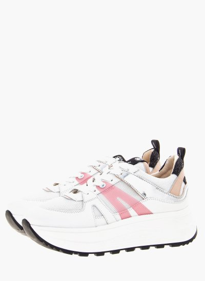 Women Casual Shoes 45700 White Leather Janet & Janet