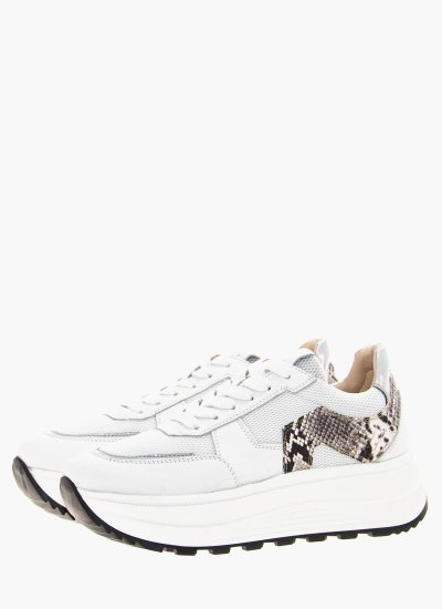 Women Casual Shoes 45702 White Leather Janet & Janet
