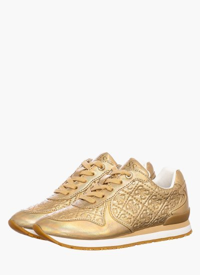Kids Casual Shoes Tesfal Gold Eco-Leather Guess