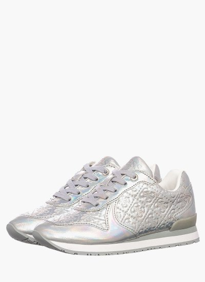 Kids Casual Shoes Tesfal Silver Eco-Leather Guess