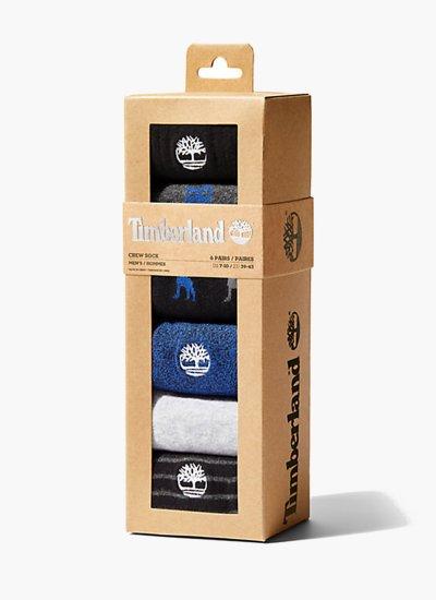 Men Socks A1MNS.6PACK Black Cotton Timberland