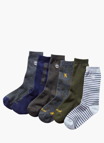 Men Socks A1MNS.6PACK DarkBlue Cotton Timberland