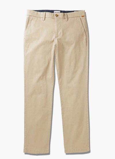 Men Pants A2BZA Beige Cotton Timberland