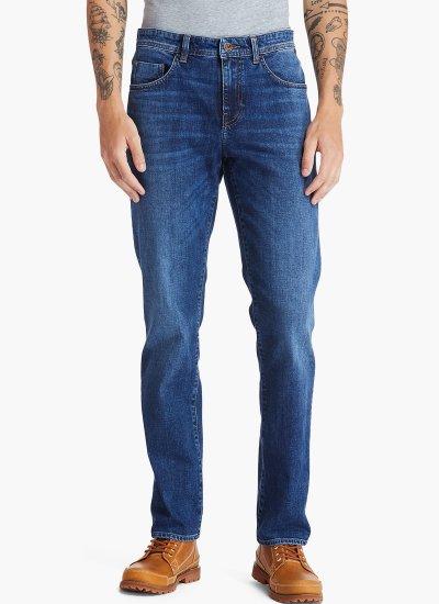 Men Pants A2C9B LightBlue Cotton Timberland