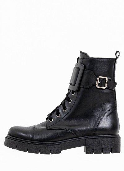 Women Boots 1008 Black Leather Mortoglou