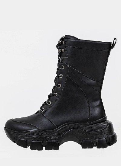 Women Boots 116846 Black Leather Mortoglou