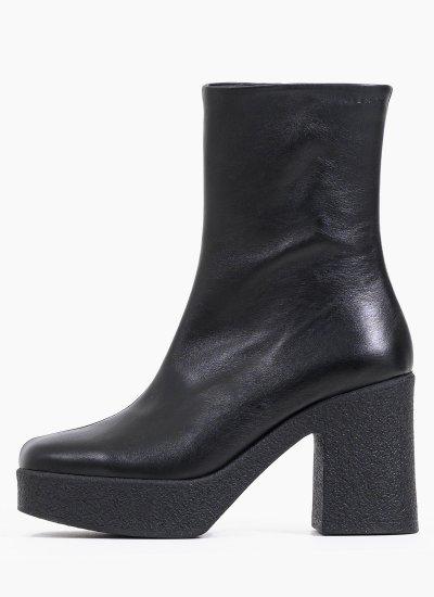Women Boots 12.134.10 Black Leather Mortoglou