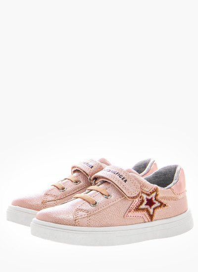 Kids Casual Shoes Laceup786 Pink Eco-Leather Tommy Hilfiger