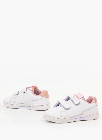 Kids Casual Shoes Lambert1 White Leather Pepe Jeans