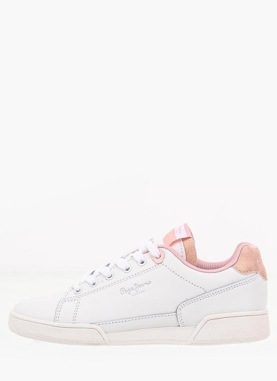 Kids Casual Shoes Lambert White Leather Pepe Jeans