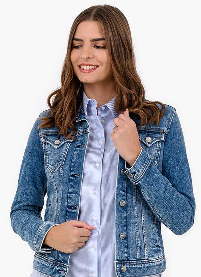 Women Coats - Jackets Thrift Blue Cotton Pepe Jeans