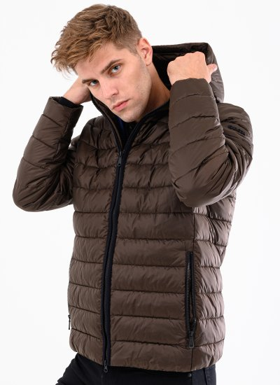 Men Jackets M0428X Brown Polyester Geox