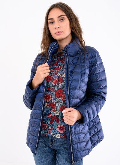 Women Coats - Jackets W0425D Blue Polyester Geox
