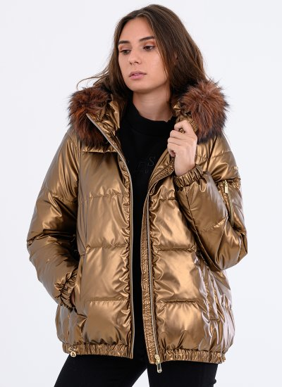 Women Coats - Jackets W0428S Bronze Polyester Geox