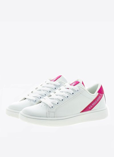 Kids Casual Shoes Adrian.G White Eco-Leather U.S. Polo Assn.