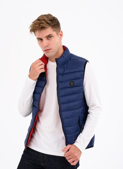 Men Jackets Pad.Vest Blue Polyester U.S. Polo Assn.