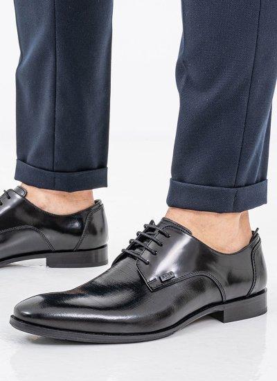 Men Shoes P4972.GLM Black Leather Boss shoes