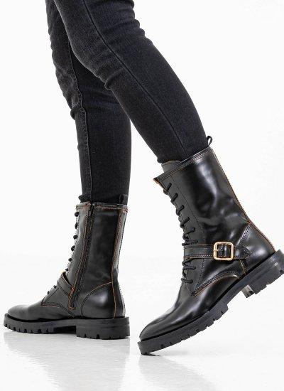 Women Boots 4071 Black Leather Alpe