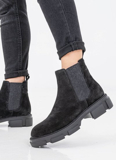 Women Boots 4123 Black Suede Leather Alpe