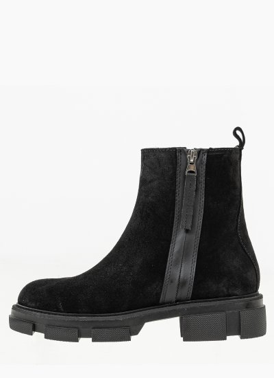 Women Boots 4124 Black Suede Leather Alpe