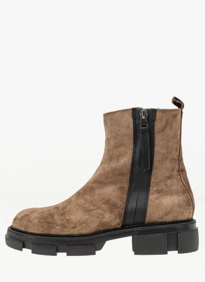 Women Boots 4124 Taupe Suede Leather Alpe