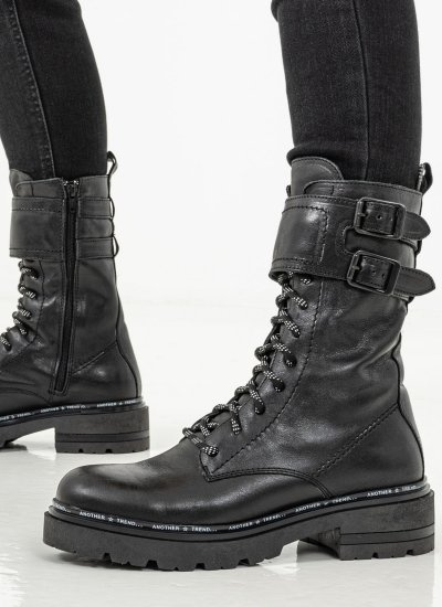 Women Boots 4130 Black Leather Alpe