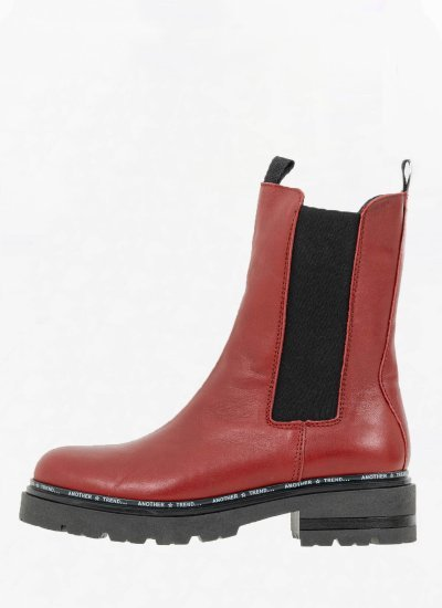 Women Boots 4133 Red Leather Alpe
