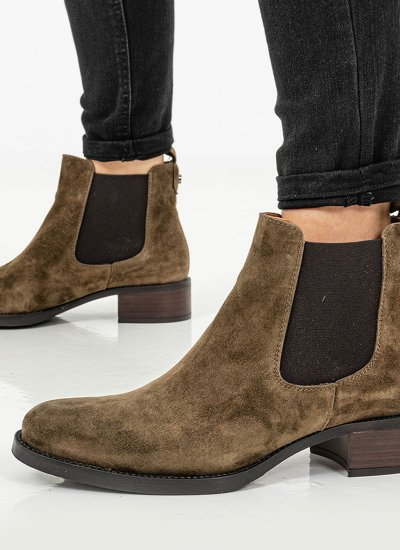 Women Boots 4236 Olive Suede Leather Alpe