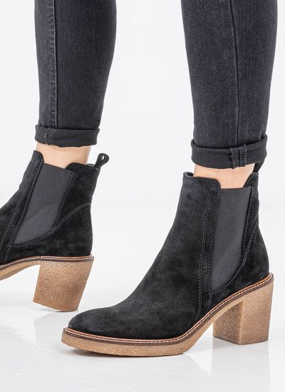 Women Boots 4396 Black Suede Leather Alpe