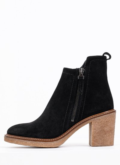Women Boots 4402 Black Suede Leather Alpe