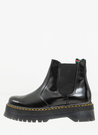 Women Boots 4500 Black Leather Alpe