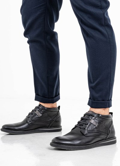 Men Boots 2100 Black Leather Damiani