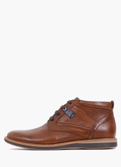 Men Boots 2100 Brown Leather Damiani