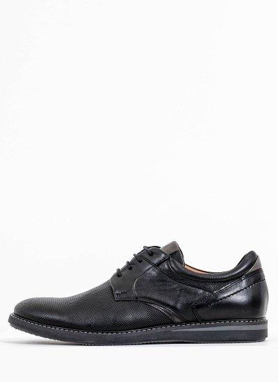 Men Shoes 2102 Black Leather Damiani