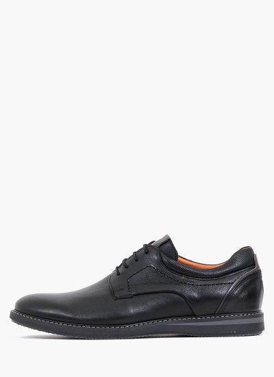 Men Shoes 2103 Black Leather Damiani