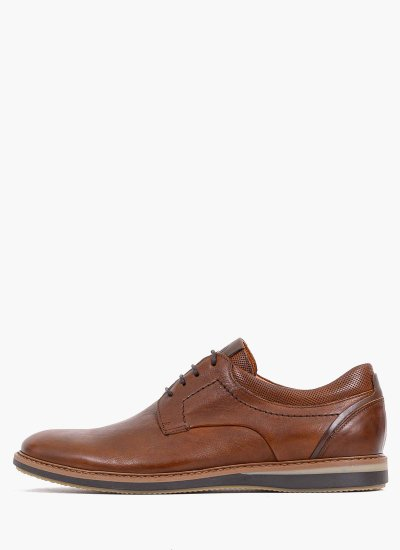 Men Shoes 2103 Brown Leather Damiani