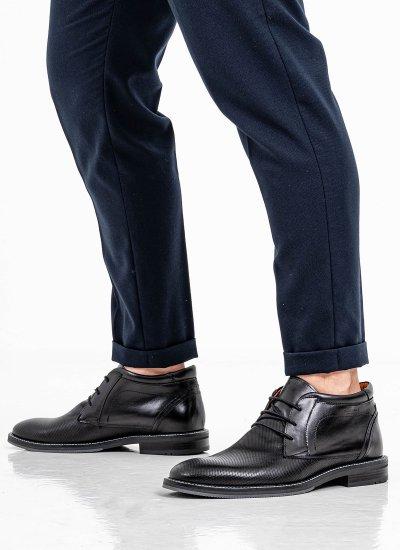 Men Boots 2252 Black Leather Damiani