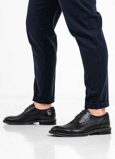 Men Shoes 2254 Black Leather Damiani