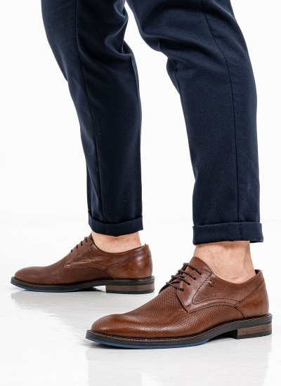 Men Shoes 2254 Brown Leather Damiani