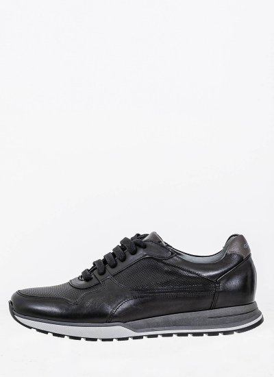 Men Casual Shoes 2500 Black Leather Damiani