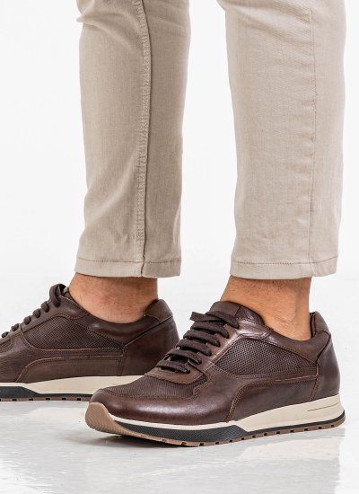 Men Casual Shoes 2500 Brown Leather Damiani