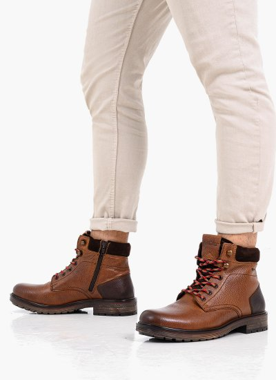 Men Boots 15211 Brown Leather S.Oliver