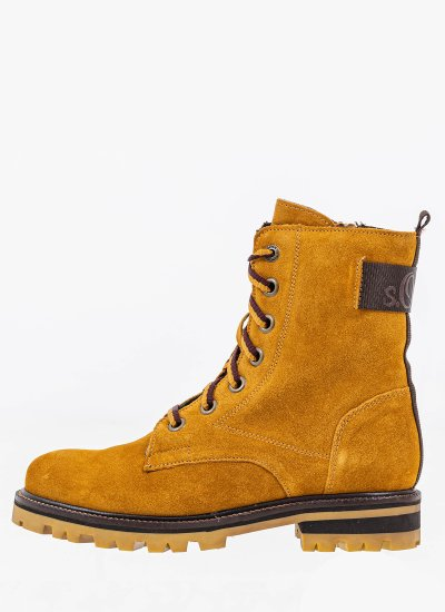 Women Boots 25204 Yellow Suede Leather S.Oliver