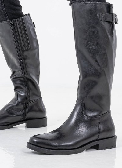 Women Boots 25511 Black Leather S.Oliver