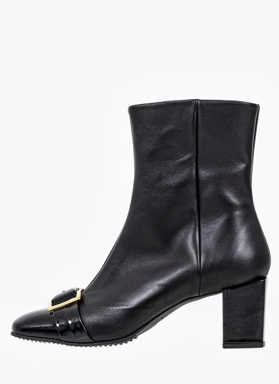 Women Boots 054 Black Leather B