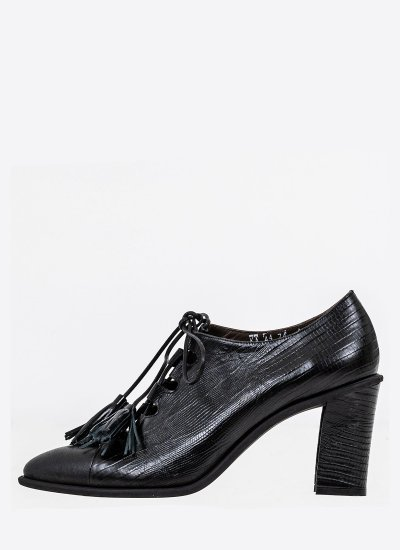 Women Boots 074 Black Leather B