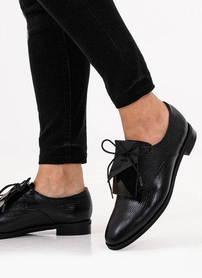 Women Moccasins 19 Black Leather B