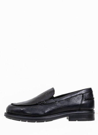 Men Moccasins 10985 Black Leather 24HRS