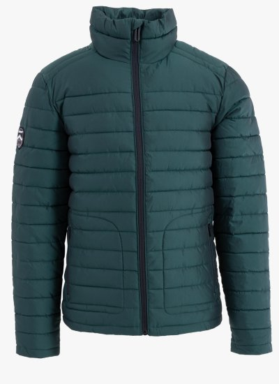 Men Jackets Double.Fuji Green Polyester Superdry